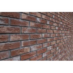 Faded Red Country Brick Slips with grey and beige shades ideal for feature walls