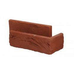 Aruba red brick slips corner pieces