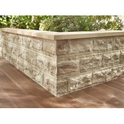 Fence stone panels Roma Stegu Weathered