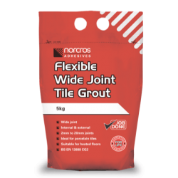 Flexible Wide Joint Tile grout arctic white
